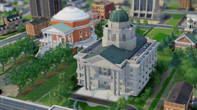 Simcity City Hall 660x368 Simcity: Build Arcologies, International Airports, and Shuttle Launches