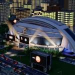 Simcity Night Stadium Screenshot