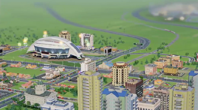 Simcity Sports City 660x368 Simcity: Build Arcologies, International Airports, and Shuttle Launches