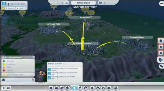 Simcity Region View 660x368 New Simcity Video Shows Region Play, Bridges, Crime, and More!