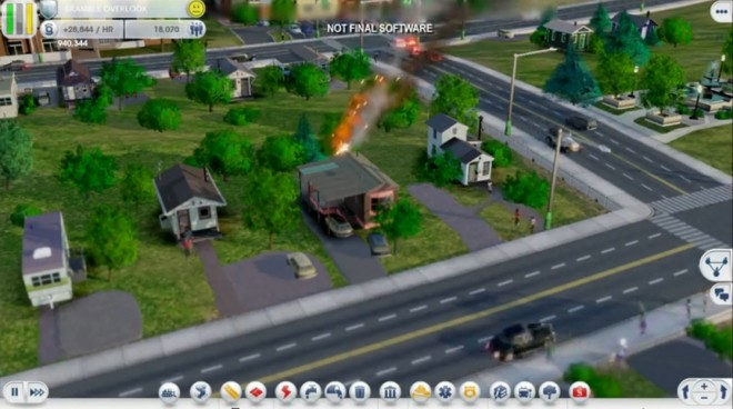 Simcity house fire 660x368 New Simcity Video Shows Region Play, Bridges, Crime, and More!