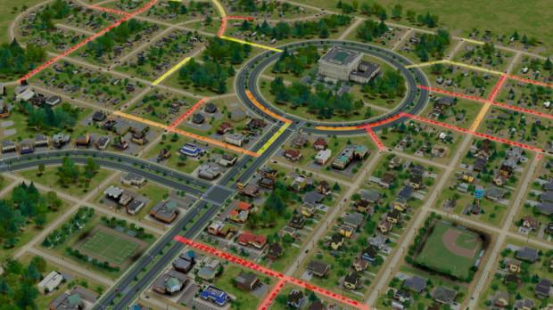 Circular Roads in Simcity