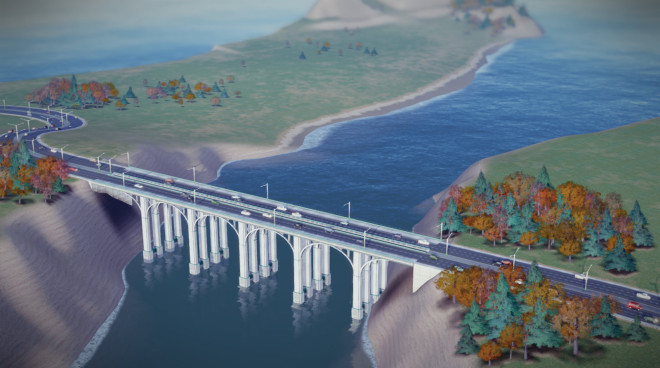 Four Lane Bridge Simcity 2013 660x368 Simcity 2013: The Road Tool + Tunnels and Bridges