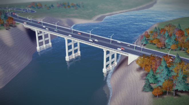 Simcity Six Lane Bridge 660x368 Simcity 2013: The Road Tool + Tunnels and Bridges