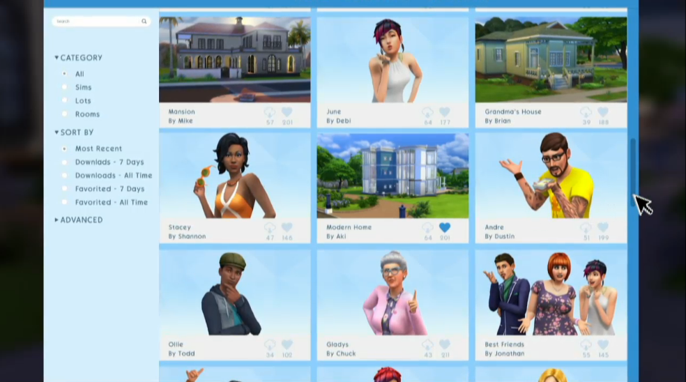 "First Glimpse At The Sims 4 Exchange: ""The Gallery"