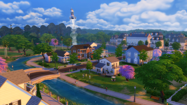 The Sims 4 Willow Creek Rocket