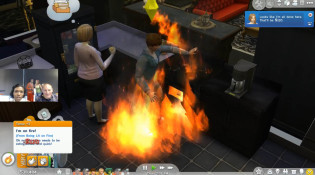 Sims 4 Kim on Fire