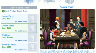 Sims 4 Social Event