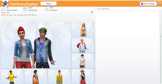 The Sims 4 Gallery Profile