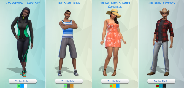 The Sims 4 Styled Looks
