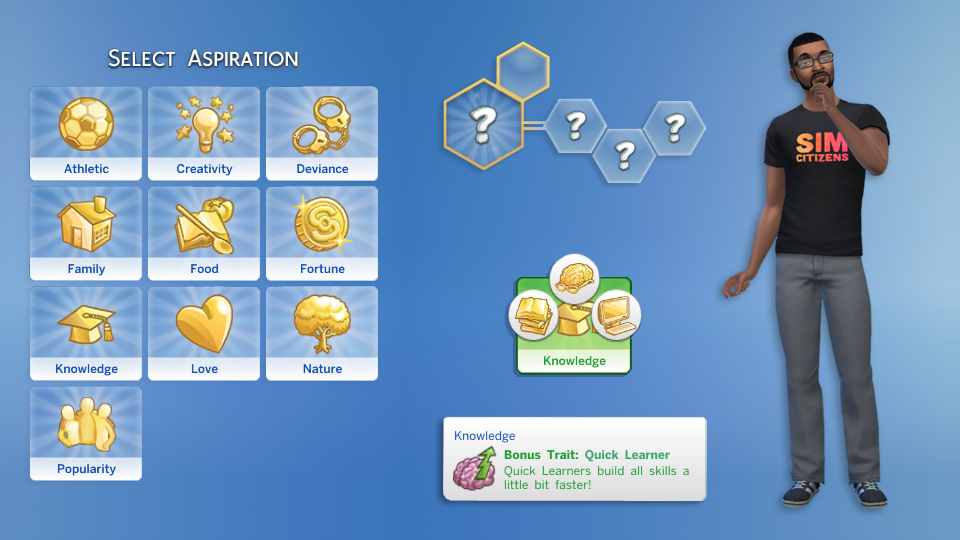 Personality, Traits, Genetics in The Sims 4 CAS Demo – simcitizens