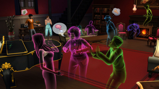 Sims 4 Ghosts party