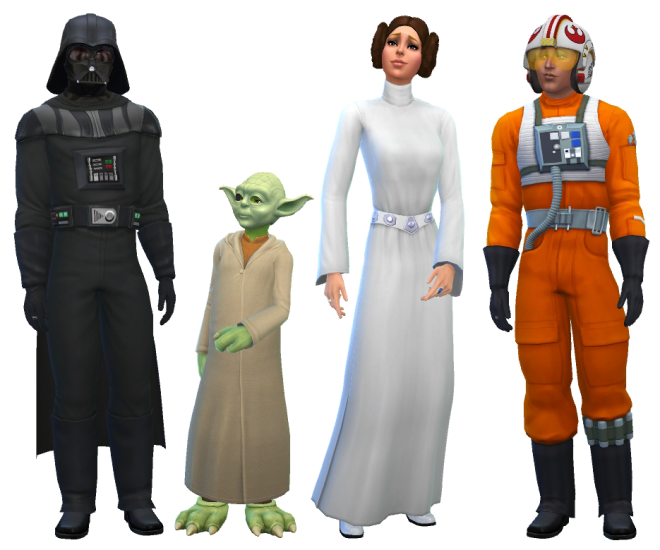 Sims 4 Star Wars Costumes