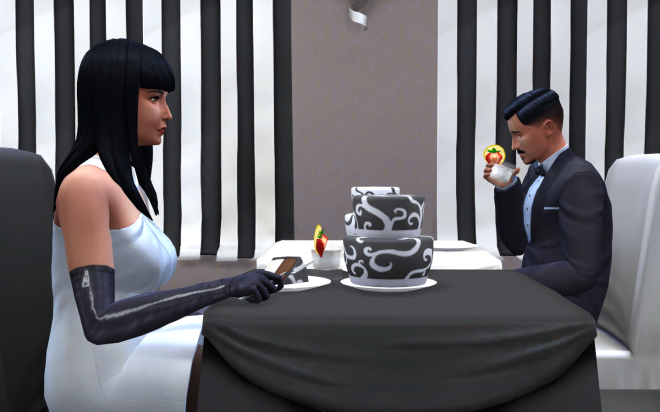 Sims 4 Black and White Food