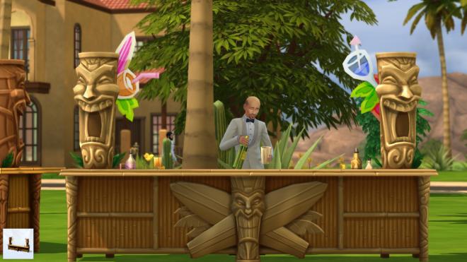 Sims 4 Flaming Tiki Bar