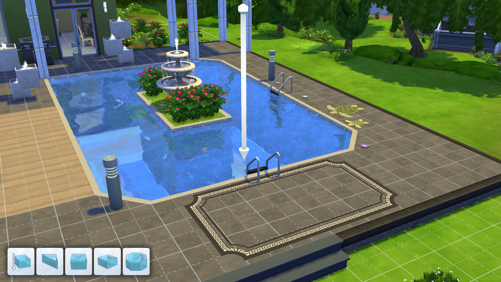 The sims 4 build mode simcitizens for Pool design sims 4