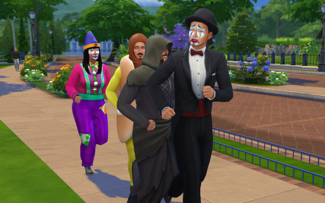 Sims 4 Up All Night Costumes