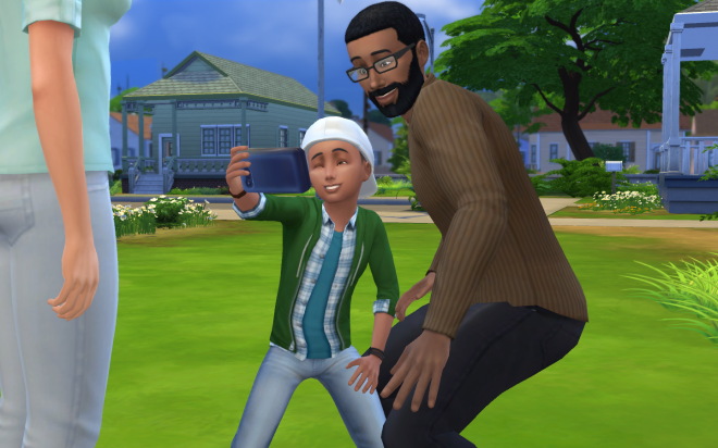 Sims 4 Child's Backwards Cap