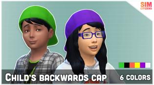 Sims 4 Child's Backwards Cap Mod