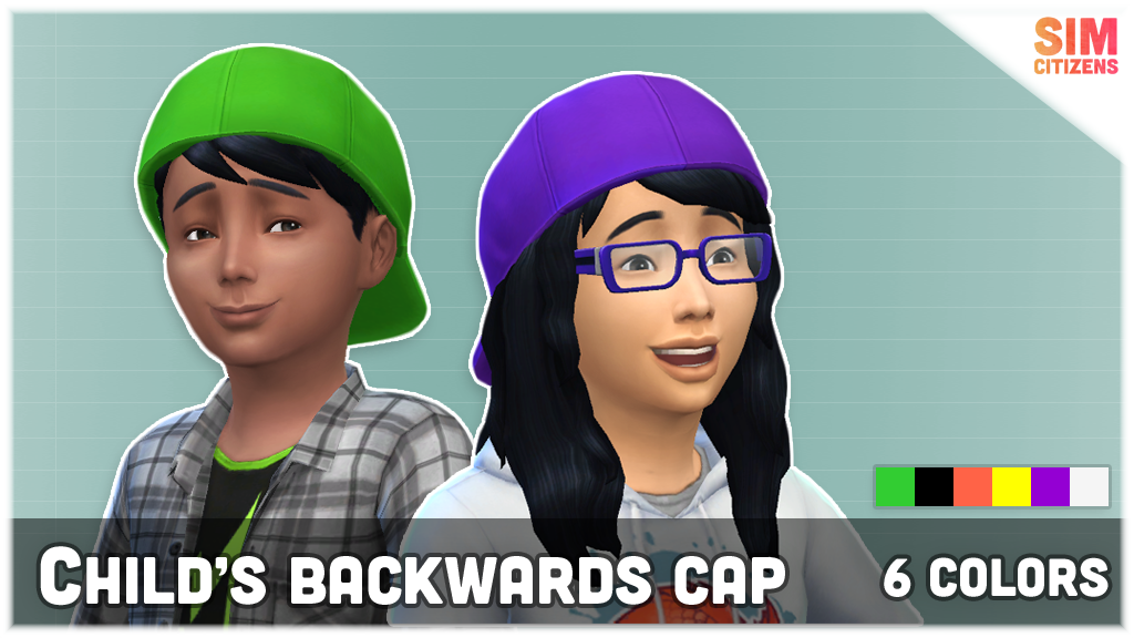The Sims 4 Mods: Child's Backwards Cap