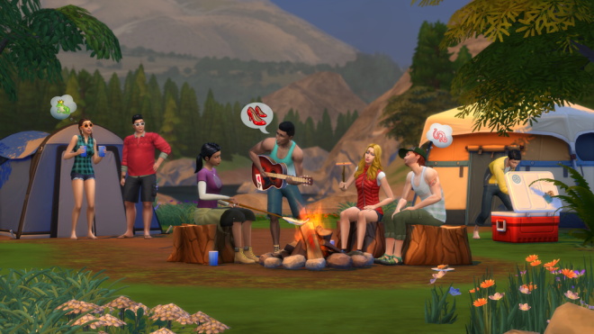 Sims 4 Outdoor Retreat Camp