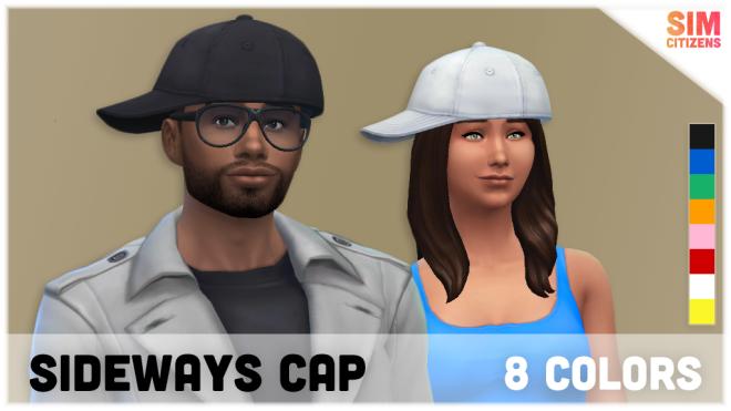 Sims 4 Sideways Cap Mod