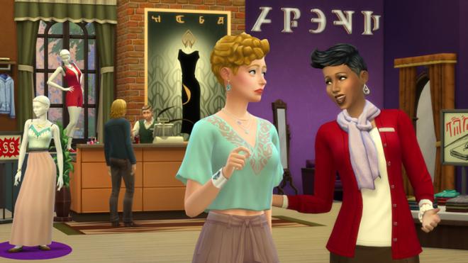 Sims 4 Get To Work Retail