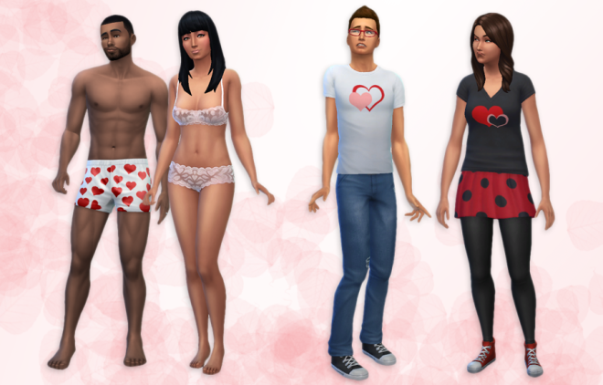 Sims 4 Valentine's Clothing