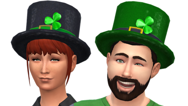 The Sims 4 St Patrick's Hat
