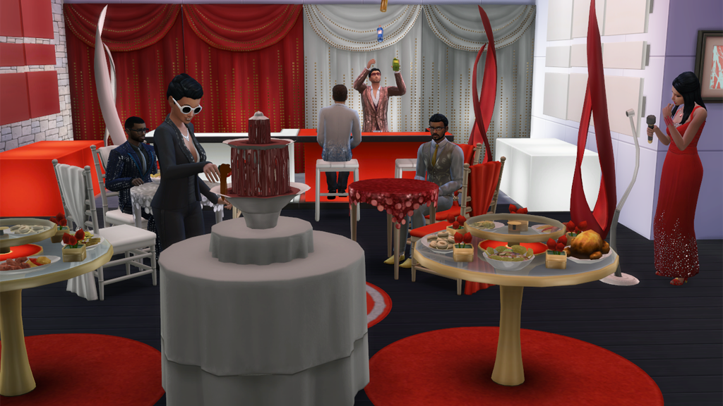 Luxury Party Stuff Objects and Music in The Sims 4  : Luxury Party Furniture Scene from simcitizens.com size 1024 x 576 png 776kB