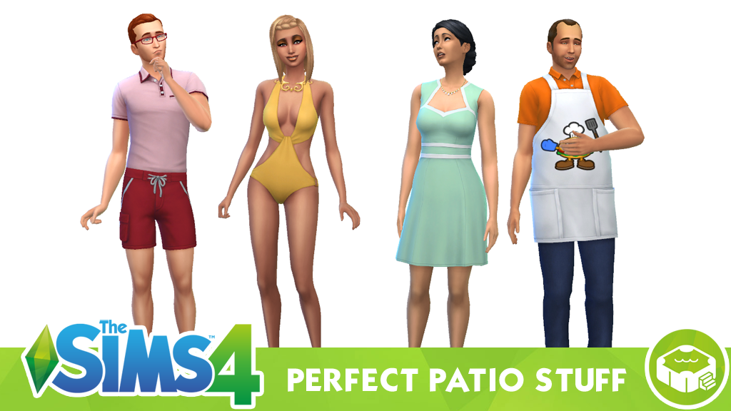 The Sims 4 Perfect Patio Stuff – Clothing and Hairstyles
