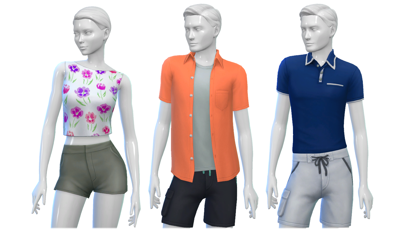 The sims 4 hairstyles cc - Perfect Patio Tops Bottoms