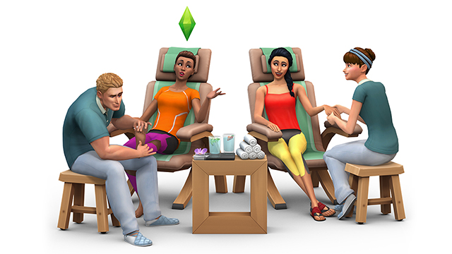 Sims 4 Spa Day Render