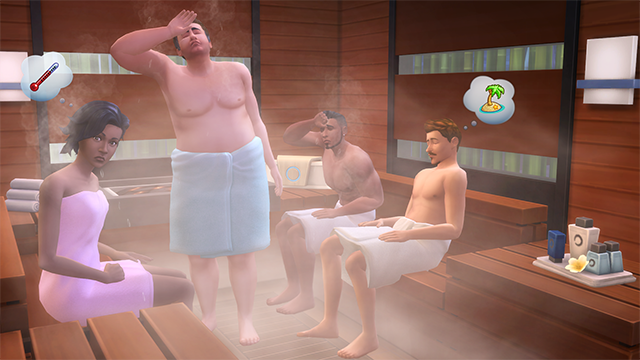 Sims 4 Spa Day Sauna