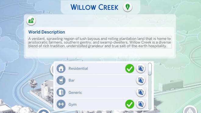 Sims 4 World Info