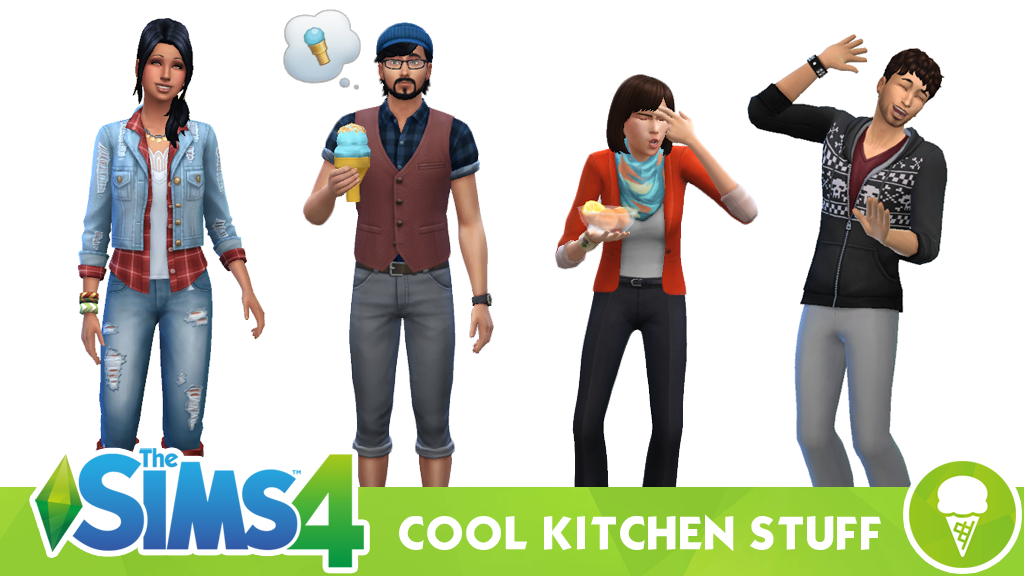 The Sims 4 Cool Kitchen Stuff – Clothing and Hairstyles
