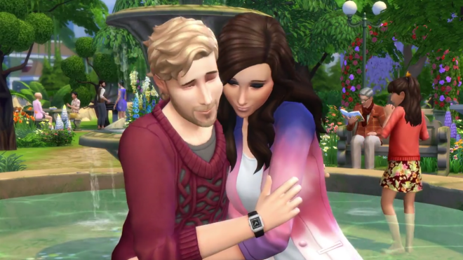 Sims 4 Fountain Cuddle