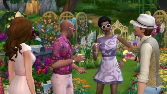 Sims 4 Romantic Garden Party