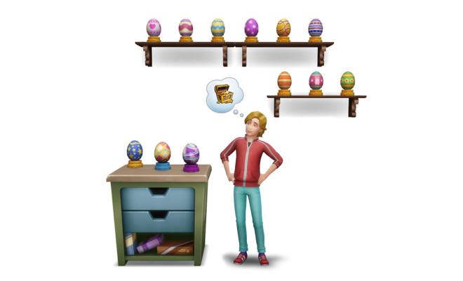 The Sims 4 Egg Hunt Render