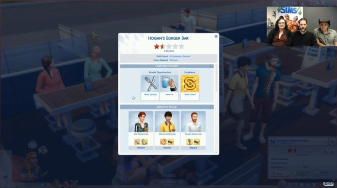 Restaurant Stats Sims 4