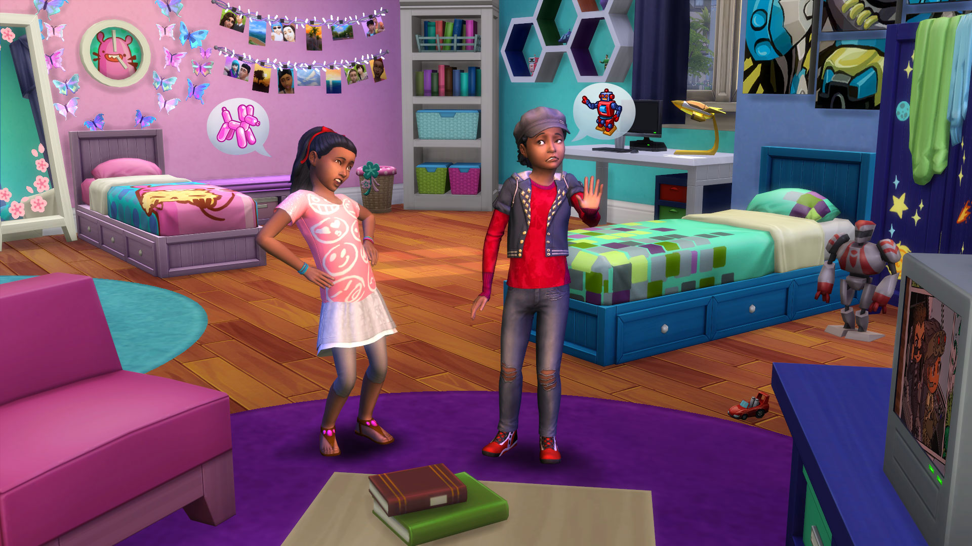collect trading cards in the sims 4 kids room stuff