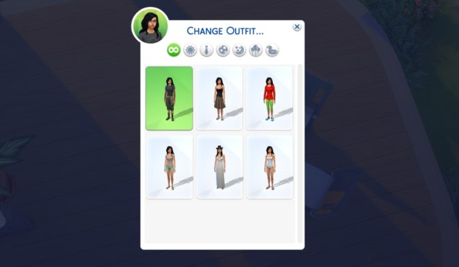 Sims 4 Change Outfit