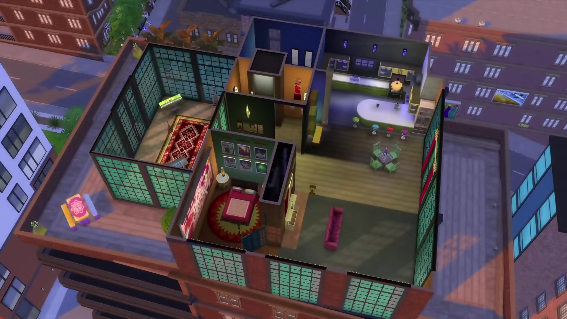 the sims 4 city living adds apartments karaoke and festivals