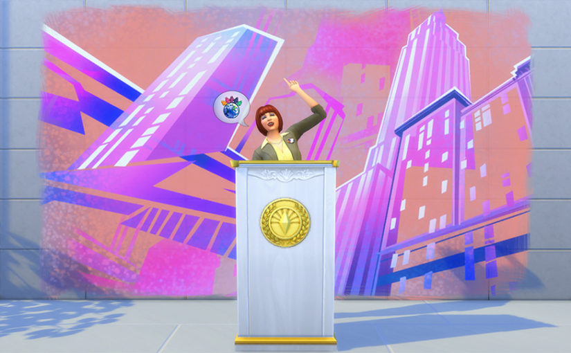 Sims 4 City Living: Politics, Critic, and Social Media Careers